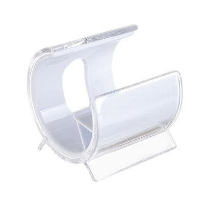 Código CEL 004 -SOPORTE SNOW- Soporte para smartphone.  Material: Plástico. Tamaño: 5.1 x 6.2 cm.