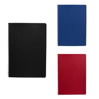 Código  HL 011  Libreta ITZA -  80 Hojas de raya. Libreta con pasta flexible y espiral metálico doble.   Material:  Curpiel- Tamaño:  14. 4 x 21 cm
