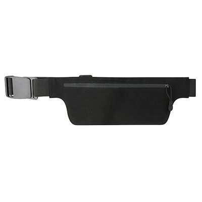 Código SIN 650 -CANGURERA SORS- Bolsa frontal con compartimento para llaves y smartphone. Correa elástica ajustable. Material: Poliéster / Algodón.  Tamaño: 27.5 x 9.4 cm.