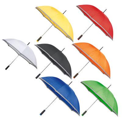 Código  PAR 01 Paraguas. Automático. 8 Paneles y mango de EVA. Incluye funda con agarradera. Material: Poliéster. Tamaño: 100 cm Diámetro.
