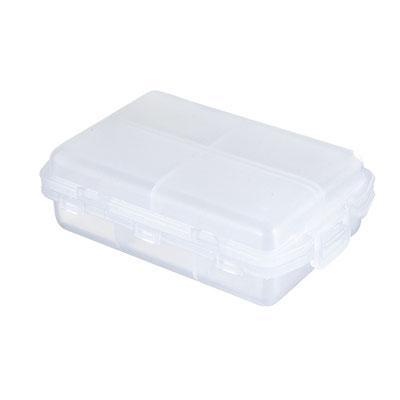 Código PT 0942 -PASTILLERO FROSTY- 10 Compartimentos.  Material: Plástico Tamaño: 9.7 x 6.4 cm.