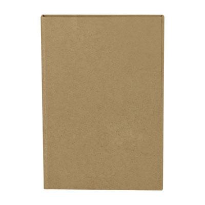 Código  HL 018 BE  LIBRETA PALOUSE (70 Hojas de raya. Incluye notas adheribles de diferentes colores, regla de 12 cm, compartimento para tarjetas y bolígrafo ecológico.)  Material: Cartón.  Tamaño: 10.7 x 15.6 cm.