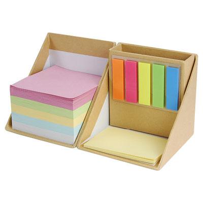 Código HL 6230 PORTA NOTAS ANSER (Incluye porta plumas y diferentes notas adheribles: 500 de diferente color, 25 amarillas y banderas de colores.)  Material: Cartón / Papel.  Tamaño: 8.6 x 8.6 cm.
