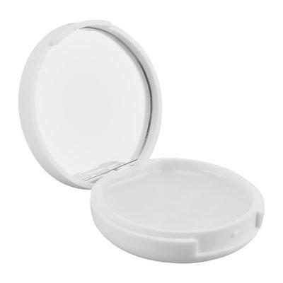 Código SLD 033 -BáLSAMO CHANDIGARH (Bálsamo para labios con espejo en el estuche.)  Material: Plástico Tamaño: 4.6 cm Di metro