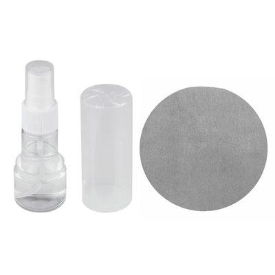 Código LAP 011 -ATOMIZADOR LUGI- Atomizador con líquido limpia pantallas y microfibra de 12.5 cm de diámetro. Material: Plástico.  Tamaño: 3.5 x 10.5 cm .