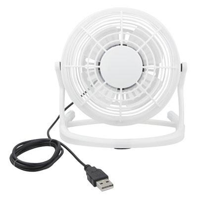 Código LAP 008 -VENTILADOR HAVA-  Mini ventilador con cable USB.  Material: Plástico.  Tamaño: 14 x 14 cm .
