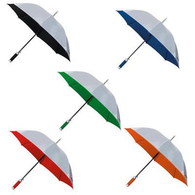 Código  PAR 05 Paraguas. Automático. 8 Paneles y mango de EVA. Incluye funda.  Material: Poliéster. Tamaño: 100 cm Diámetro.