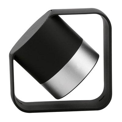 Código Z 1110  BOCINA ROCK (Bocina bluetooth con batería recargable. Controles integrados de volumen y reproducción de audio. Cable cargador USB incluido.)  Material: Plástico / Rubber.   Tamaño:  9 x 9 cm