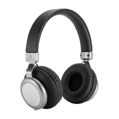 Código AUD 023 AUDíFONOS AGREGY (Audífonos bluetooth. Incluye cable cargador USB y cable de audio para escuchar música sin necesidad de batería ni bluetooth. Batería interna recargable (4 hrs de música aproximad.   Material:Aluminio / Plástico / PU
