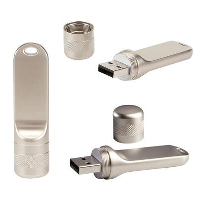 Código USB 136   USB SIDNEY 8 GB  USB con tapa. Incluye caja individual.  Material:  Acero Inoxidable  Tamaño: 1.6 x 6.5 cm
