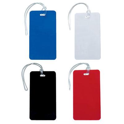Código PRO 115 -IDENTIFICADOR DE MALETAS ARMSTRONG- Incluye papel para datos y correa de plástico. Material: Plástico.  Tamaño: 6 x 11 cm.