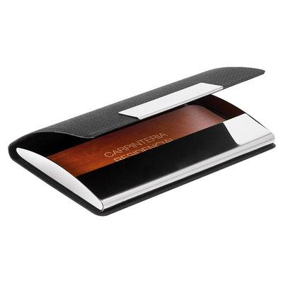 Código M 83350 TARJETERO IKSAN. Material: Curpiel / Metal. Tamaño: 9.6 x 6.5 cm