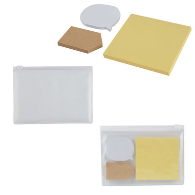 Código PRO 010 NOTAS ADHERIBLES YATRA SET Incluye 3 block de notas adheribles de diferentes formas y colores.   MATERIAL: PLASTICO  TAMAÑO: 15X 11 CM
