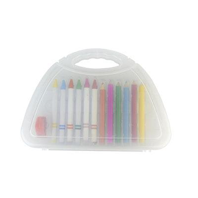 Código KIT INF 100 KIT ESCOLAR DRAWING (Incluye sacapuntas, 6 crayones y 6 colores.) Material: Plástico. Tamaño: 20 x 14.3 cm.