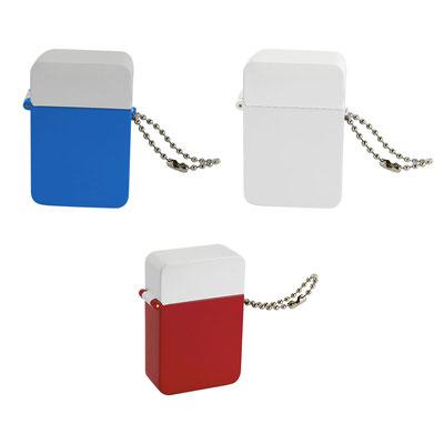 Código PT 015  PASTILLERO LURITJA (2 compartimientos.)  - Material: Plástico Tamaño:  3.8 x 5.9 cm