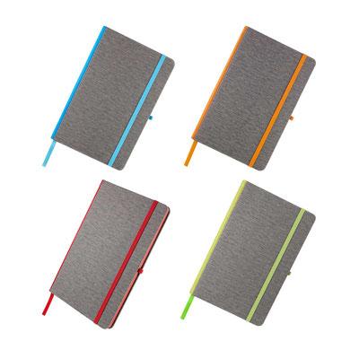 Código  HL 9000   LIBRETA SOMBOR (80 Hojas de raya. Incluye elástico para cerrar, separador de hojas y elástico para bolígrafo.)  Material: Curpiel.  Tamaño:  13.2 x 20.2 cm