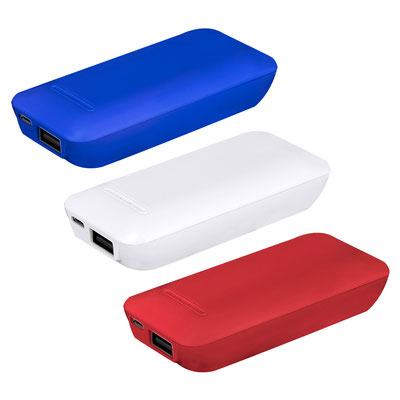 Código CRG 024 POWER BANK HARGY (Batería auxiliar para smartphone, capacidad 2400 mAh. Incluye cable cargador compatible con USB y micro USB.)  Material: Plástico. Medida: 4.3 x 9.5 cm.