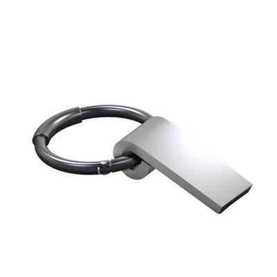 Código USB 080 -USB HARSTAD- USB Llavero. Incluye caja individual, 8GB. Material: Metal .  Tamaño: 3.4 x 6 cm.