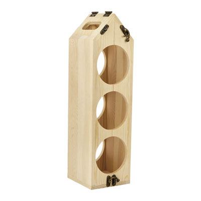 Código  BAR 004   BASE PARA VINOS LOUDI (Espacio para una botella. Con función de portabotellas.)  Material: Madera.    Tamaño:  10.9 x 40 cm