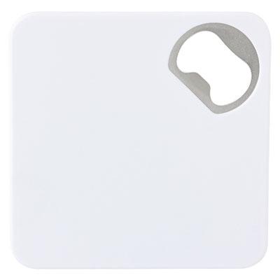 Código BAR 001  PORTAVASOS PORTER (Portavasos con destapador.) Material: Plástico / Metal.  Tamaño: 8.2 x 8.2 cm.