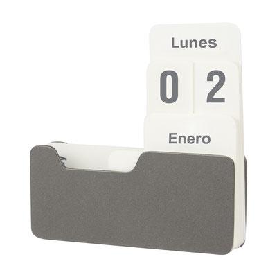 Código CAL 100  CALENDARIO ONTUR (Calendario universal.)  Material: Metal.  Tamaño: 10 x 10 cm Abierto.