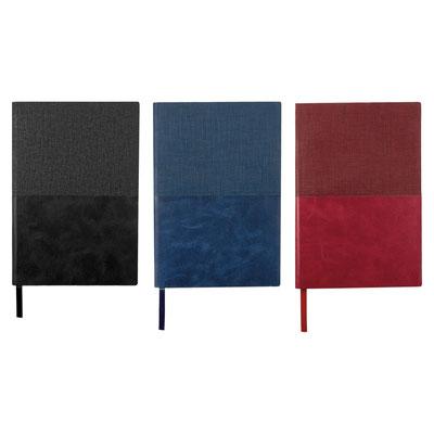 Código  HL 1750  LIBRETA MACEO (70 Hojas de raya. Incluye separador de hojas.)  Material: Curpiel.  Tamaño: 14.2 x 21 cm.