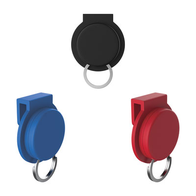 Código K 650 A  LLAVERO HESSE (Sujetador de llaves para bolsa con imán.)  Material: Plástico. -  Tamaño: 3.5 x 3.7 cm.