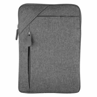 Código TAB 006   FUNDA PARA TABLET DAIKI (Funda para tablet. El compartimento frontal cuenta con cierre.)  Material:  Poliéster.  Tamaño:  20 x 28 cm