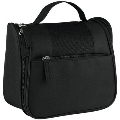 Código SIN 310  MOCHILA DE VIAJE RODNA (Bolsa con cierre y asa en el exterior. Incluye gancho, 2 compartimentos con cierre y 4 bolsas de malla en el interior.)  Material: Poliéster. Tamaño: 22 x 19 x 11 cm.