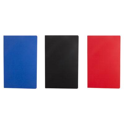 Código  HL 185 LIBRETA LUTSK (80 Hojas de raya. Libreta con pasta flexible.)  Material: Curpiel.  Tamaño:  12.9 x 20.5 cm