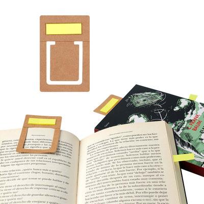 Código HL 6020 SEPARADOR ECOLOGICO WORA  Incluye 30 notas adheribles.  Material: Cartón. Tamaño: 5.5 x 8.3 cm