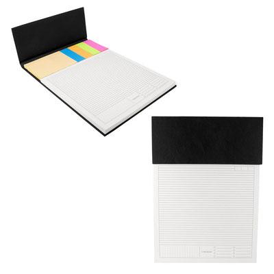 Código HL 6580  PROGRAMADOR SALOME   Incluye block de notas medida 20.3 x 20 cm con 70 hojas de raya, notas adheribles y 4 banderillas de colores. Material: Curpiel. Tamaño:    28.8 x 20.9 cm