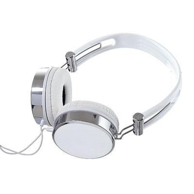Código AUD 001   - Audífono - Audífonos acojinados ajustables con cable entrada auxiliar. Incluye funda individual de satín negra Material:  Metal / Plástico. Tamaño: 14 x 17 cm.