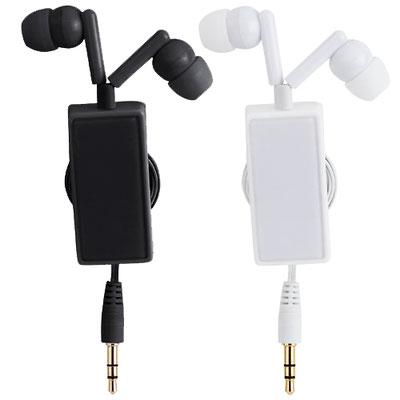 Código AUD 017  AUDíFONOS GLIESE (Audifonos retractiles con clip. Miden 90 cm extendidos aproximadamente.) Material: Plástico. Tamaño: 2.2 x 10.5 cm.