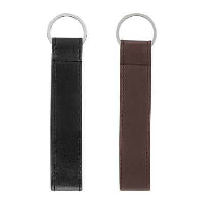 Código  M 3550  LLAVERO BANGKA  Material: Curpiel. -  Tamaño: 2.2 x 14 cm.