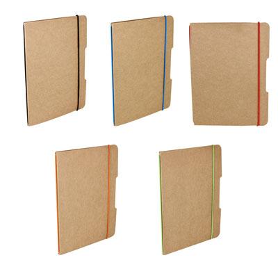 Código  HL 015   LIBRETA BARRON (40 Hojas de raya. Incluye elástico para cerrar.)   Material: Cartón.  Tamaño: 15.2 x 21 cm.