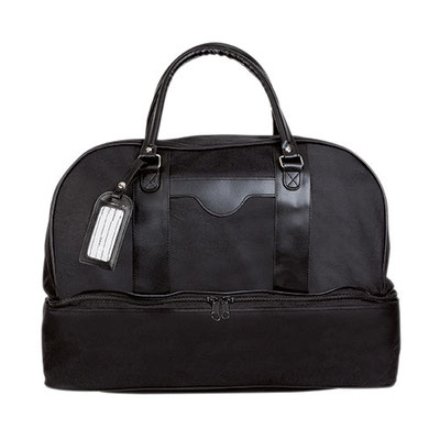 Código  SIN 150 Maleta. Bolsa principal y compartimento para zapatos. Incluye identificador de maletas. Material: Poliéster. Tamaño: 48 x 35 x 27 cm.