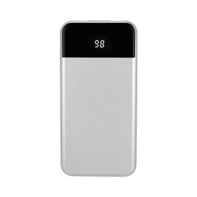 Código CRG 025 POWER BANK KIEV (Batería auxiliar para smartphone, capacidad 10,000 mAh. Incluye cable cargador compatible con USB y micro USB. Display indicador de batería.)   Material:  Plástico.  Medida:  7 x 14.1 cm.
