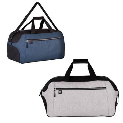 Código  SIN 294  MALETA IAN  Bolsa principal, bolsa frontal con cierre, asas y correa ajustable  Material: Poliéster   Tamaño:   65 x 30 x 22 cm.