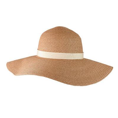 Código  HAT 002   Sombrero Dama. Cinta removible en color beige con broche de velcro.  Material: Paja de papel.