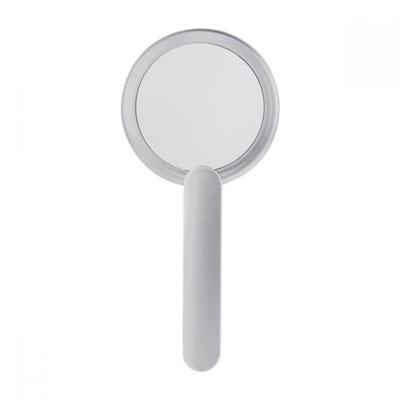 ESPEJO DAM 002 ESPEJO BRISEIS COLOR PLATA Material:  Plástico Tamaño: 8.5 cm Diametro, Espejo / 2 x 10 cm Mango, Espejo 1 lado con aumento 2X y 1 lado normal. Cuenta con mango.