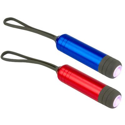 Código LAM 1100  LáMPARA ATRAN (1 LED con 2 puntas planas y 2 puntas de cruz.) Material: Aluminio/ Plástico. Tamaño: 2.3 x 9 cm.