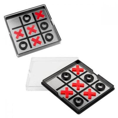 Código JM 080 - JUEGO DE GATO- Incluye 4 círculos y 4 cruces magnéticos.  Material:  Plástico / Aluminio Tamaño: 10.9 x 10.9 cm