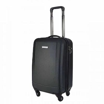 Código  SIN 905  MALETA VENECIA (Maleta trolley 4 ruedas. Incluye 4 compartimentos interiores, placa metálica removible para fácil grabado y candado de seguridad TSA con combinación de 3 dígitos. ) Material: Estireno / Poliéster. Tamaño:   34 x 47 x 22 cm
