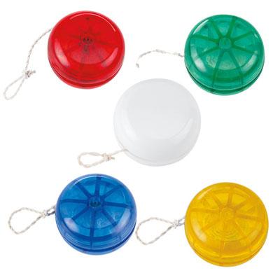 Código INF 060  YOYO CLáSICO TRANSLúCIDO. Material: Plástico.  Tamaño: 5.5 cm Diámetro.