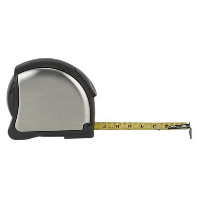 HER 050 FLEXóMETRO SILAY (Flexómetro cinta metálica de 3 m. Incluye clip metálico.)  Material:  Acero inoxidable / Plástico.   Tamaño:   7.2 x 6.5 cm