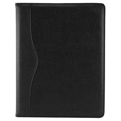 Código M 82724 N     .   CARPETA HARBEL (Incluye block de raya tamaño A4 con 20 hojas. No incluye bolígrafo.) Material:  Curpiel. Tamaño: 24 x 31.5 cm.