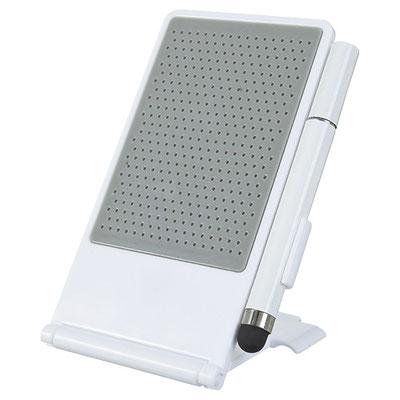 Código CEL 007 - PORTA CELULAR BARI- Soporte para smartphone con bolígrafo y touch screen.  Material: Plástico. Tamaño: 7 x 11.6 cm.