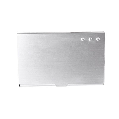 Código M 83964 TARJETERO.   Material: Aluminio. Tamaño: 9.3 x 5.9 cm.