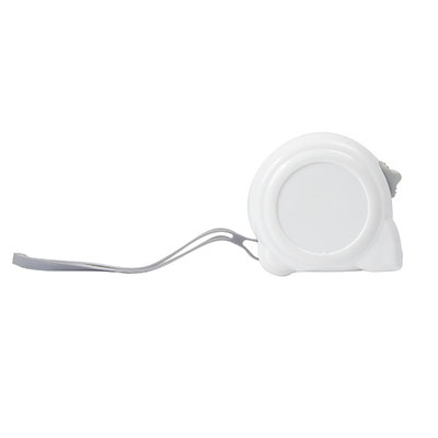 Código  HER 019 B -FLEXóMETRO LUCCA- Flexómetro cinta metálica de 5 m. Incluye correa, clip y seguro.  Material: Plástico / Metal . Tamaño: 6.5 x 6.5 cm.